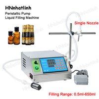 Полуавтоматическая машина для заполнения жидкости для сока для напитков для напитков нефтяных парфюмерии Одного сопла Перистальтическая насосная бутылка для воды наполнитель 650 мл / мин