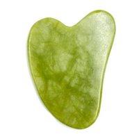 Vial Massager Rullo Guasha Bordo Piatto Green Natural Jade Stone Eye Sottile Relax Slimming Face Massage Tools Strumenti migliore per Jlltoy