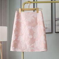 Skirts 2021 Women Fashion Elegant Short Skirt Ladies Summer High Waist A-line Casual Female Vintage Floral Print Y237