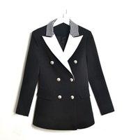 Runway Designer Women Vintage Elegant Blazer Long Sleeve Suit Jacket Coat High Quality Double Breasted Blazers Femme Tops 2020