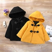 Jackets 2021 Baby Girls Winter Coat Cotton Padded Hooded Autumn Warm Outerwear Princess Girl Kids Clothes For Children 2-7age