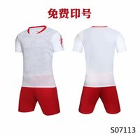 Men Adult soccer jersey short sleeve soccer shirts football uniforms shirt+shorts --S070113-1
