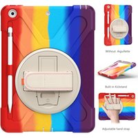 Heavy Duty Tablet Cases for iPad 10.2 [7th 8th Gen] Mini 5 Air 4 Pro 11 9.7 inch Samsung Galaxy Tab T220 T500 T290 360° Roration Kickstand Hand Strap Shockproof Protection Case