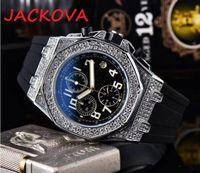 Berühmt, alle Wählscheiben Working Classic Designer Watch Luxus Mode Kristall Diamant Männer Uhren Großer Zifferblatt Mann Quarzuhr Stoppuhr