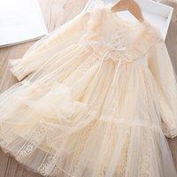 Girl's Dresses Girls 2021 Autumn For Kids Princess Dress Children Long Sleeve Clothes Sweet Tulle Vestidos 6 8 10 12 14Y