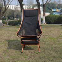 خفيفة الوزن للطي كرسي في الهواء الطلق المحمولة الظهر التخييم سطح الكراسي القمر الصيد شواء الملحقات
