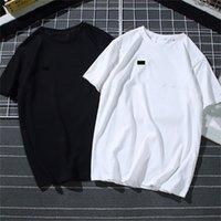 Hombre verano camiseta marea famosa diseñador impresión corta manga corta bordado negro blanco Top 15 estilos sueltos masculinos y ropa de mujer
