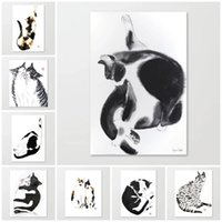 Paintings Canvas Prints Wall Art Black White Ink Poster Modular Animal Pictures For Corridor Modern Classic Home Decor No Frame
