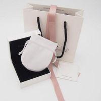 공장 도매 원래 보석 상자 세트 실버 폴리싱 천으로 판도라 매력에 대 한 벨벳 가방 논문 귀걸이 반지 선물 상자