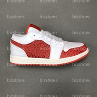 1 Spades Skate Board Shoes White Light fusion Red Sail Red Air Metallic Gold Womens Uomo Sneakers all'aperto