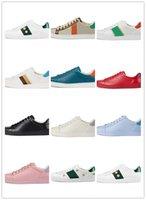 Männer / Damenschuhe Lässig Schlange Sasu Leder Sneakers Kleine weiße König Biene Stickerei Streifen Schuhe Gehen Tiger