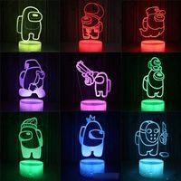 Поп-светодиодная игрушка USB ночной свет между нами, он может изменить 7 цветов, банки можно использовать для украшения дома, подарки на день рождения и сделать вашу небольшую комнату романтично и тепло.