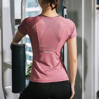 Fitness Womens T Shirts Slim Fit For Sports Running Mesh Short Sleeve Jerseys Yoga Top Woman Gym Shirt SportWear Tees