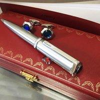 أزرار أكمام المعادن الشهيرة الفضة ماتي كواتب كواتب أقلام الكتابة المورد مكتب الأعمال والمدرسة الأزياء القلم أكمام مربع أحمر