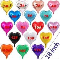 Hota Sale Love Heart Shape 18 Inch Foil Balloon Birthday Wedding New Year Graduation Party Decoration Air Balloons DAU45