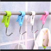Aessory Set Bathroom Aessories Bath Home & Gardenclamp Hook Hooks Peg Laundry Folder Hanging Clothes Rails Clips Clothespins Socks Underwear