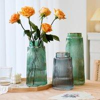 Hochzeit Tisch Getrocknete Blume Transparente Vase Glas Dekoration und Accessor Wohnkultur Modernes Wohnzimmer Große Vasen