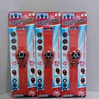 キッズイカゲーム電子ウォッチボーイズガールズスポーツブレスレットデジタル時計コスプレプロップス韓国怖いドラマ周辺アクションフィギュア人形のリストバンドTOYS G02S2LL