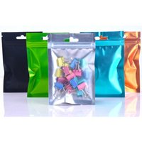 One Side Clear Colored Resealable Zip Mylar Bag Bags Smell Proof Pouches Jewelry Pouch 8.5*13cm 9*15cm 10*18cm