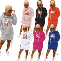 Designers Women sweatshirt Clothes 2021 fashion Pullover round neck hem split with tie rope and dress