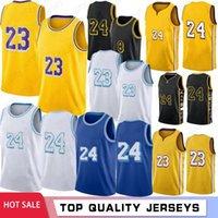 LeBron 23 James 2021 New Basketball Jerseys Los AngelesLakersKobe24Bryant Mens Anthony 3 Davis Kyle 0 Kuzma Green Stock