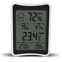 الرقمية LCD بيئة ميزان الحرارة الرطوبة الرطوبة الرطوبة متر شاشة كبيرة موازين الحرارة المنزلية والترطيب DBC VT1144