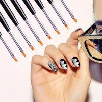 Nail Art Kits 8 Pcs Set Acrylic Manicuring Brush For Painting Brushes Dotting Design Kit Gel Varnishes Tools