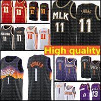 Trae 11 Young Devin 1 Booker Jersey Black Chris 3 Paul Retro Mesh Steve 13 Nash Basketball Trikots 2021 Männer Top Günstige Verkäufe