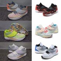 Kutu Seçkin Yakınlaştırma KD 14 14 S Erkek Basketbol Ayakkabıları Elit Gri Pembe Çok Renkli Floresan Yeşil KD14 XVI Eğitmenler Yakınlaştırır Spor Sneakers EUR 40-46