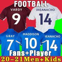 Thai Tswy 축구 유니폼 Vardy 20 21 축구 셔츠 2021 팬 리카르도 Ndidi Maddison Maillot 유니폼 남성 키트 키트