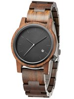 Black Sandalwood Wood Watch for Men Women Couple Lovers Simple Vintage Style Mens Natural Real Wooden Band Strap Male Wristwatch Quartz Watches