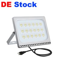 DE Stock Outdoor Lighting Floodlights AC110V 220V US EU Plug 10W 20W 30W 50W 100W LED Flood Lights IP65 Apply To Warehouse, Garage, Factory Workshop, Courtyard, Garden