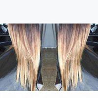 Шелковистые прямые человеческие волосы парики бразильские полное кружевное парик оммре медовая блондинка 1b 4 27 кружева передний парик с детскими волосами