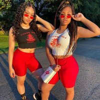 Women's Tracksuits Plus Size Two Piece Set Summer Clothes For Women Tracksuit Crop Top Biker Shorts Sweat Suits Sexy Outfits Matching Sets