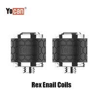 Authentic Yocan Rex Enail Replacement Coil Head QTC Quartz Triple Coils Pancake Atomizer Core for Wax Concentrat Dab Vape Device Kit 100% Genuine