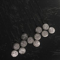 S925 Sterling Silver Black 12 constellations pendant necklaces for men and women to wear personality trend fashion luxury jewelry Monaco Necklace