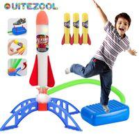 Kids Air Pressed Stomp Rocket Games Jogos Ao Ar Livre Esportes Crianças Lançadores Lançadores Step Bomba Skittles Family Family Game Toy