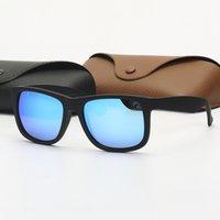 Mode Herren Sonnenbrille Polarisierte Vintage Sonnenbrille des Lunettes de Soleil Justin Brillen UV Schutzobjektive für Frau mit Ledertasche und Einzelhandelspaket
