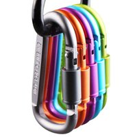 Keychains 6pcs lot 8cm Aluminum Snap Carabiner D-Ring Key Chain Hiking Camp Mountaineering Hook Climbing Clip Keychain Accessories