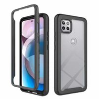 3 In 1 Phone Cases With Screen Protector For Iphone 12 Pro Max 11Pro XS XR 6 7 8 plus Samsung S20plus S20 Ultra TPU+PC packages is oppbag