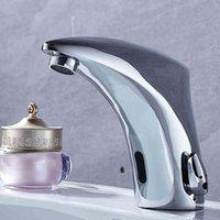 Badrum Sink kranar Ny varm kall mixer Automatisk sensor Tap Hand Touch Gratis Faucet Banheiro F-2028 4WKE
