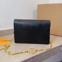 손으로 개최 단일 어깨 대각선 체인 작은 가방 여성 가죽 오래 된 꽃 팩 숙녀 플립 지갑