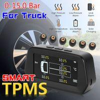 0-15bar Überwachung des Fahrzeugs Reifendruckmesser Solar Truck TPMs Reifenreifendrucküberwachungssystem mit 6- externen Sensoren Fahrsicherheit