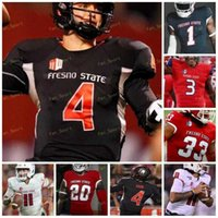 Custom 2021 Fresno State Football Jersey NCAA College 8 David Carr 15 Davante Adams 11 Jorge Reyna 5 Jalen Cropper 27 Zane Pope 16 Jared Rice
