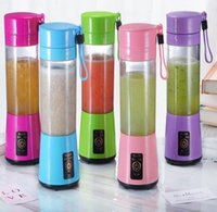 380 ml Blender personal Portátil Mini Blender USB Juicer Cup Electric Juicer Botella Fruta Herramientas de Vegetales Marítimo Envío de mar OWC6914