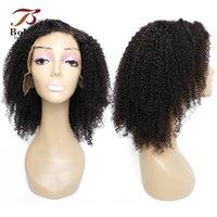 레이스 가발 13x4 프론트 가발 18 인치 레미 인간의 머리카락 Afro Kinky 곱슬 자연 색상 Pre-Plucked 150 % 밀도 Bobbi 컬렉션