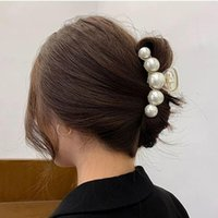 Hair Clips & Barrettes 2021 Hyperbole Big Pearls Acrylic Claw Size Makeup Styling For Women Accessories
