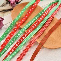 10 Yards 10mm Christmas Ribbon Printed Grosgrain Ribbons for Gift Wrapping Wedding Decoration Hair Bows DIY christmas ribbon candy