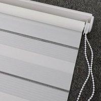 Stores Transparent Zebra Double couche Light Shading Winding Roller pour salon Chambre à coucher Etude