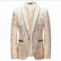 Men's Suits & Blazers 5Xl Casual Suit Jacket Autumn Spring Fashion Slim Fit Wedding Banquet Festival Dance Stage Host Evening Dress